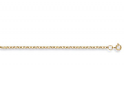 "24""  61cm 2.1mm 9ct gold round link Belcher chain 7g"